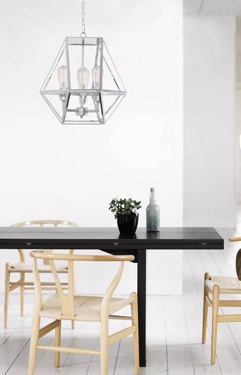 The Beacon Lighting Vaille 3 Light Pendant In Chrome With