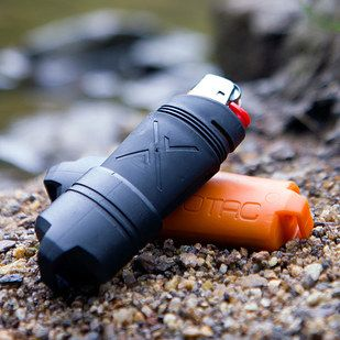 A waterproof lighter = it will protect your lighter from water even if you get caught in a downpour or swept away in a river
