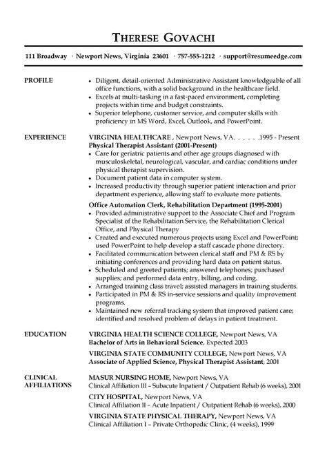 resume example writing sample administrative assistant examples - resume for office assistant