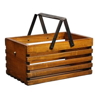Antique Revival - Natural Loire Fruit Bucket - easy enough to make with a crate from Michael's ... I LOVE usefulness