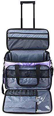b2f3d0b59b45 Amazon.com: Luxja Rolling Sewing Machine Bag with Shoulder Strap and ...