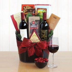 Jingle All The Way Holiday Wine Gift Basket Diy Wine Gift