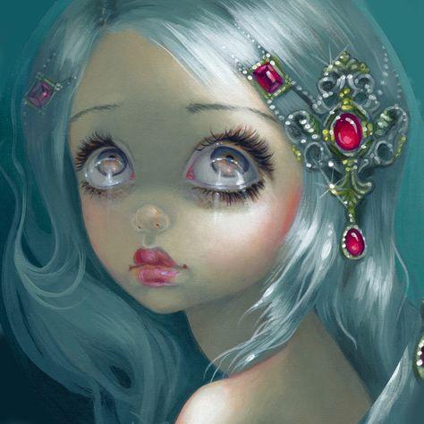 Eyes on the Heavens - 8x10 acrylic on panel -
