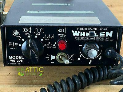 Vintage Whelen Ws 295 Electronic Siren Pa Amplifier 100w W Wire Harness Ebay Police Lights Emergency Lighting Vintage