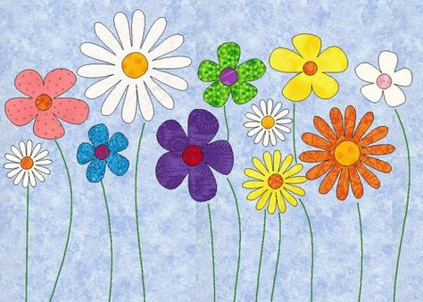 Image detail for easy daisy applique design template in pdf