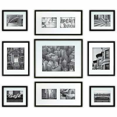 Ebay Link Gallery Perfect Black Wood 9 Piece Frame Kit Black 11x14 Home Garden Homedcor Frames Picture Frame Gallery Wall Frame Set Picture Frame Wall