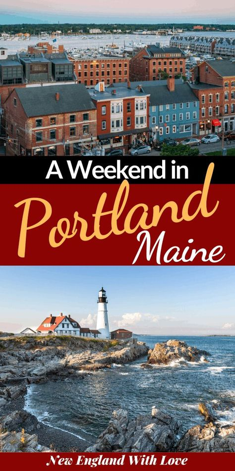 Portland Maine Weekend Guide - - Portland Maine Weekend Guide New England Travel and Outdoor Adventures Looking to enjoy a weekend in Portland, Maine? This post is your complete guide to things to do, where to eat, & where to stay in Portland. Portland Maine, Weekend In Portland, Travel Portland, Maine New England, New England Travel, Usa Travel Guide, Travel Usa, Travel Maine, Beach Travel