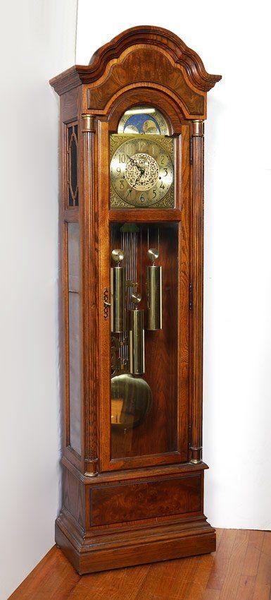 Howard Miller Oak Case Grandfather Clock 610 311 Grandfather Clock Modern Grandfather Clock Clock