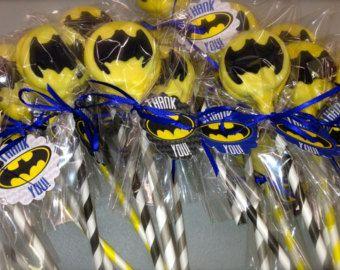 Batman comestibles Oreo pop gel les faveurs d'anniversaire gâteau