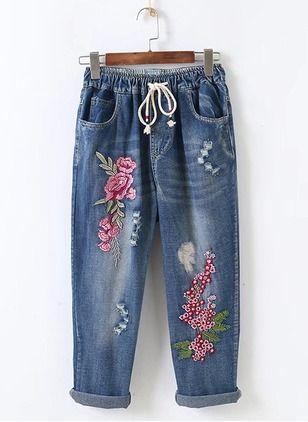 Loose Cotton Jeans Pants Leggings Floryday Pantalones Mujer Ropa Pantalones