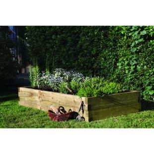 Wickes Large Wooden Raised Bed Kit Wickes Co Uk Rectangular