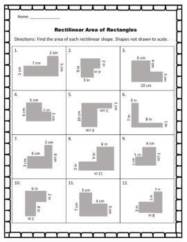 Rectilinear Area Worksheets With Images Area Worksheets