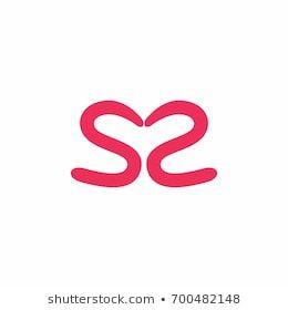 Letter S S Opposite Arrows Logo Stock Vector (Royalty Free