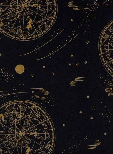 Rifle Paper Celestial Navy Metallic Cotton Lawn Fabric by the Half Yard Rifle Paper Fabric, Rifle Paper Company, Cotton Lawn Fabric, To Infinity And Beyond, Cosmos, Constellations, Aesthetic Wallpapers, Astrology, Stars