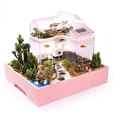 ecological creative tanks mini fish Creative Ecological Mini Fish TanksYou can find Fish tank and more on our website Small Fish Tanks, Cool Fish Tanks, Klein Aquarium, Aquarium Fish, Turtle Aquarium, Aquarium Design, Fish Tank Themes, Betta Fish Tank, Diy Tank