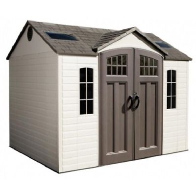 Lifetime 10x8 Side Entry Storage Shed W Floor 60178 81483806402 Ebay Outdoor Storage Sheds Shed Storage Lifetime Storage Sheds