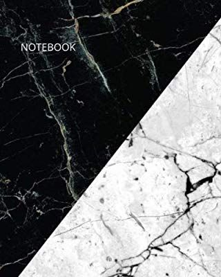 Notebook Dark And White Marble Duo Triangle Geometric Combination Notebook 8x10 120 Page Marble Wallpaper Phone Marble Iphone Wallpaper Black Wallpaper Iphone