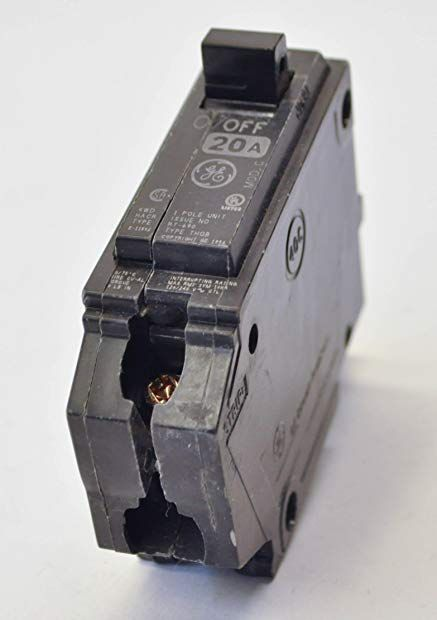 Ge Thqb1120 Bolt On Mount Type Thqb Miniature Circuit Breaker 1 Pole 20 Amp 120 240 Volt Ac Review Pole Breakers Bolt