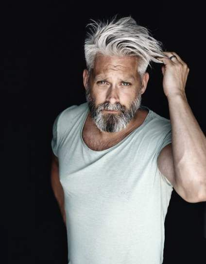 Super Hairstyles For Men Over 40 Over 40 30 Ideas Grey Hair Men Mens Hairstyles Haircuts For Men