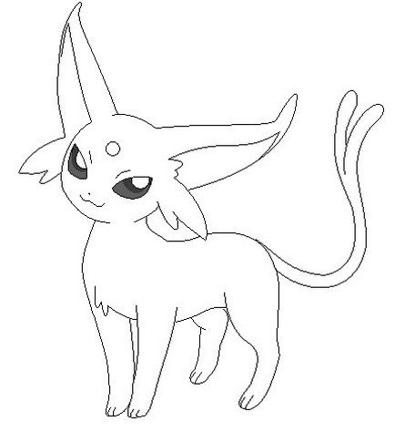 Pokemon Espeon Coloring Pages Pokemon Coloring Pages Pokemon
