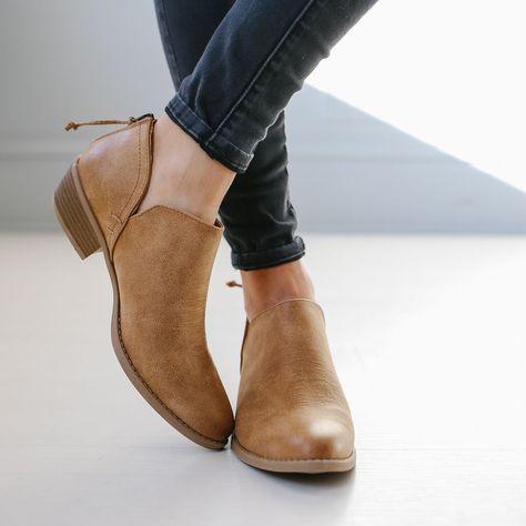 620230c3a25 Women Distressed Cutout Stacked Heel Bootie – POPKEEP