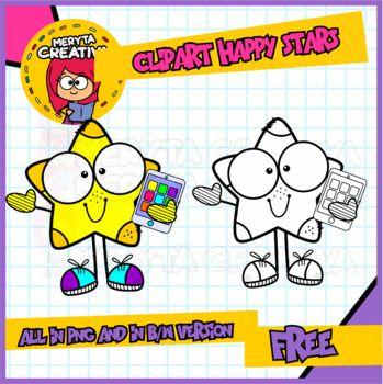 Clipart Happy Stars Clip Art Free Clip Art Star Clipart