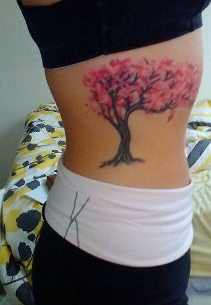 Tattoo Tree Rib Branches 33 Ideas Cherry Blossom Tree Tattoo Blossom Tree Tattoo Cherry Tree Tattoos