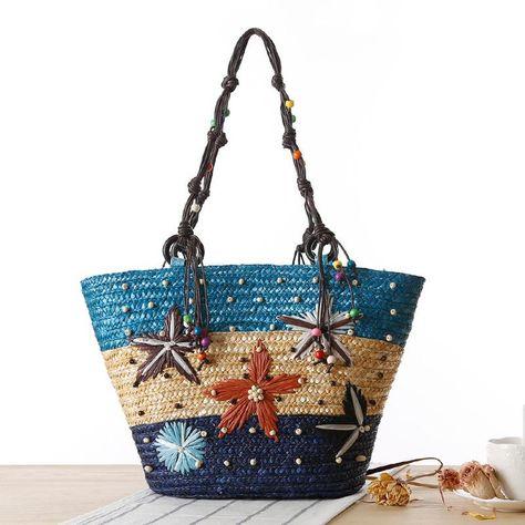 797f99f4f9 Summer Straw Beach Bag Weave Women Messenger Bags Large Capacity Travel  Bolsa Feminina Ladies Shoulder Bag Female
