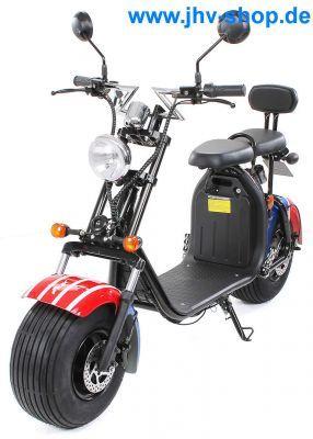 Eflux Harley Two Elektro Scooter 1500 Watt 60 Volt 20ah Mit