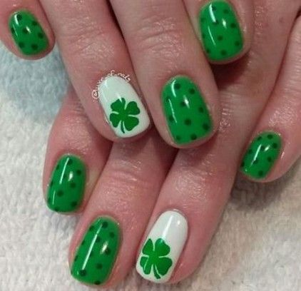 Using Green On St Patrick S Day Is A Must And Nails Are No