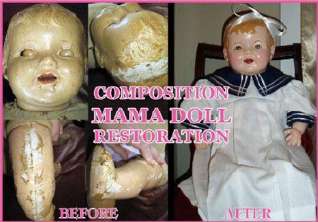 "/""Light/"" color /""Compo Creme/"" Composition Doll crazing repair Creme"