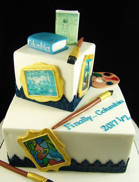 Incredible Art History Graduation Cake Con Immagini Torta Laurea Torte Funny Birthday Cards Online Inifodamsfinfo