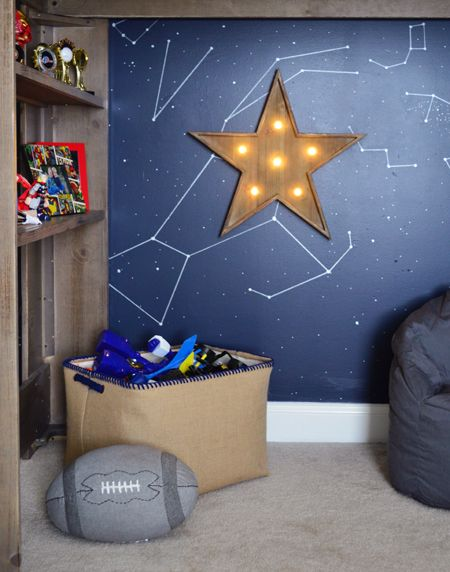 Outer Space Bedroom For A Special Family | Battery Operated, Snake And Star  .