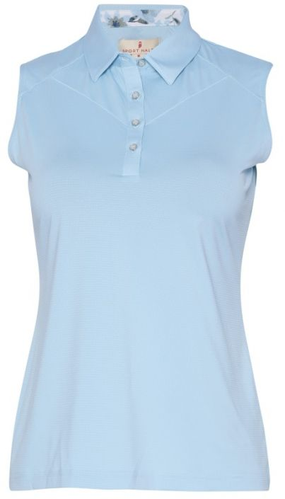 a35220b1 Check out our FORGET-ME-NOT (Bluebell) Sport Haley Ladies & Plus Size Irene  Sleeveless Solid Golf Polo Shirt! Find stylish golf apparel at  #lorisgolfshoppe ...
