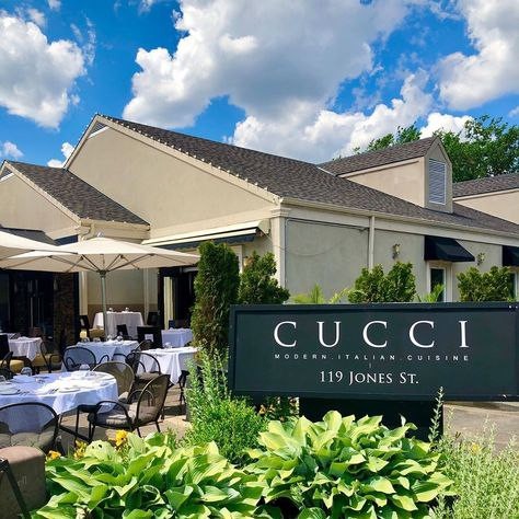"""Cucci Ristorante on Instagram: """"We're set up and ready to celebrate the weekend with you. - Patio open daily at 5pm for dinner. - #buonappetito #italianfood #cucci…"""""""