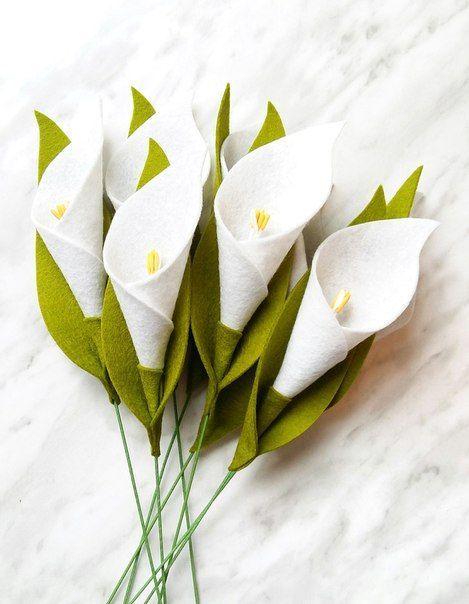 Como Fazer Flor Copo De Leite Em Feltro Passo A Passo Calla Lily