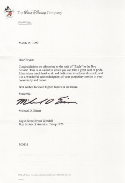 Eagle Scout Parent Letter Of Recommendation Letter To Parents