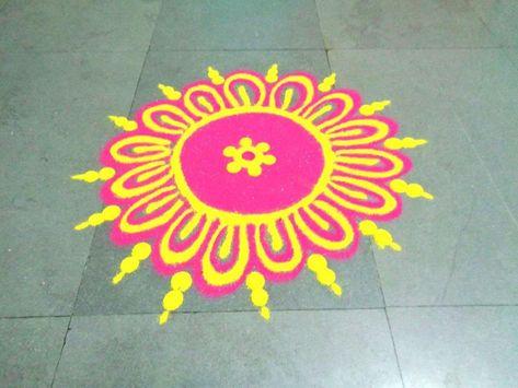 Easy Rangoli Design for Diwali Competition Ganesh ji Theme