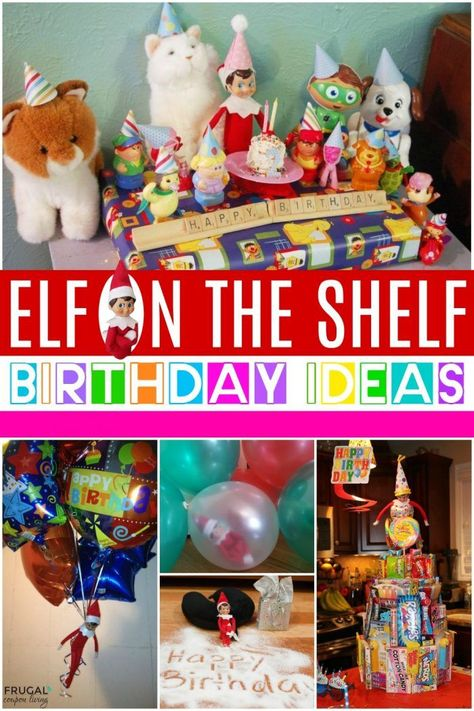 Have a November or December birthday? Enjoy these creative Elf on the Shelf Birthday Ideas and Elf Birthday Traditions See over of Elf on the Shelf Ideas plus free Scout elf printables. December Birthday, 30th Birthday Gifts, Halloween Birthday, 9th Birthday, Christmas Birthday, Birthday Ideas, Birthday Crafts, Elf On The Self, The Elf