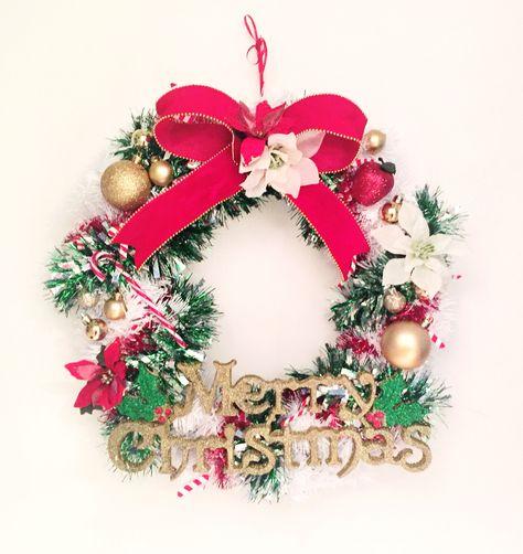 More Christmas Wreath Making Handmade