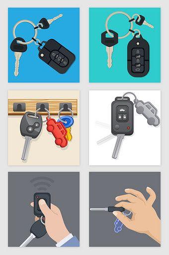 Car Remote Control Key Vector Png Images Ai Free Download Pikbest Control Key Remote Control Remote
