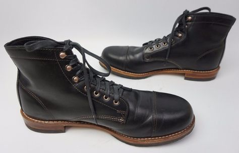 Wolverine 1000 Mile Adrian Cap Toe Black Leather Men s Boot Size 13 ... bb9f533866e
