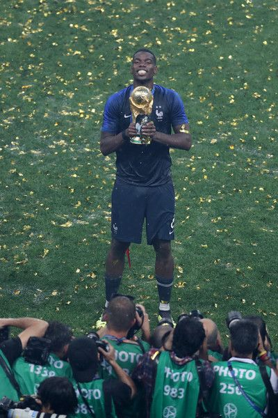 Paul Pogba Photos Photos France V Croatia 2018 Fifa World Cup Russia Final Paul Pogba World Cup Trophy Paul Pogba Manchester United