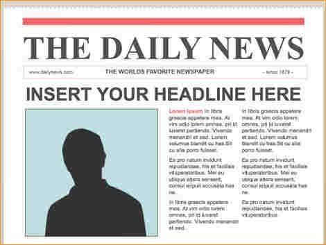 Newspaper Article Example School