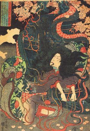 Kuniyosi Musha Warriors Japan Ukiyo E Estampas Japonesas Artes Visuais Desenho