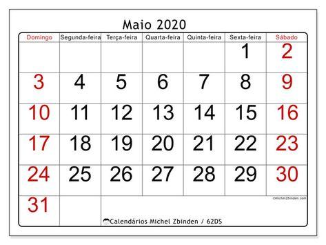 Calendarios Para Imprimir 2020 Ds Michel Zbinden Pt Em 2020