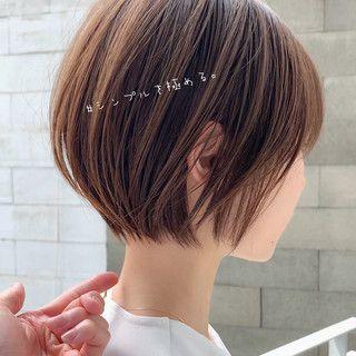 ショート スタイル 人気 ボブ 【2021年春】前下がりショートボブの髪型で、もっと大人可愛いヘアスタイルに ショートボブ