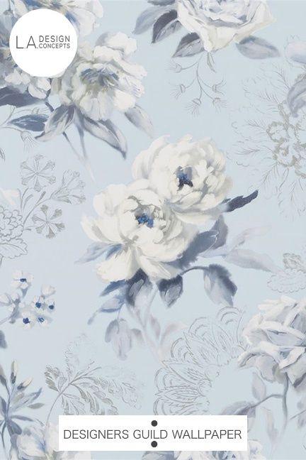 Designers Guild Wallpaper Victorine Cornflower These