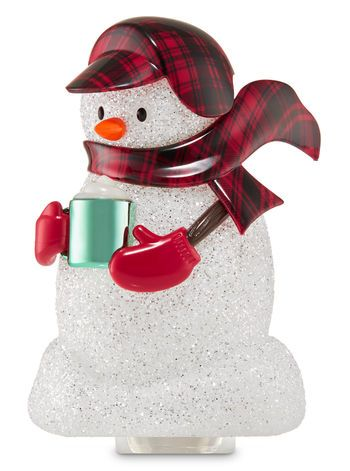 Bundled Snowman Nightlight Wallflowers Fragrance Plug Bath Body