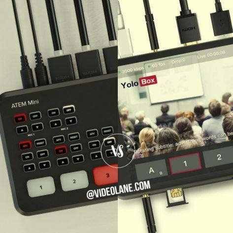 Atem Mini vs YoloBox – HDMI Multi-Camera Live Streaming Setup for Facebook, YouTube